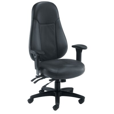 All Home Leopard High-Back Leather Desk Chair