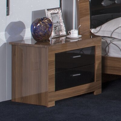All Home Louise 2 Drawer Nightstand