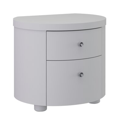 All Home Lillian 2 Drawer Nightstand