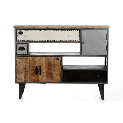 All Home Vintage Solid Mango Wood Sideboard