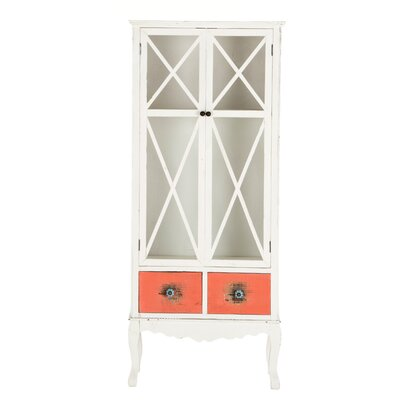 All Home Rhodes 2 Drawer Low Wood Cabinet