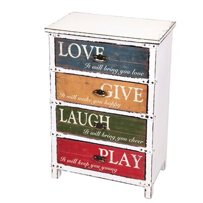 All Home Siena 4 Drawer Poster Chest