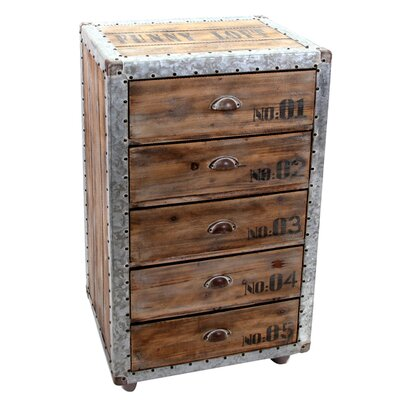 All Home Siena 5 Drawer Chest