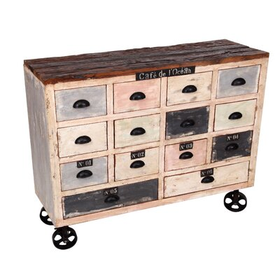 All Home 14 Drawer Chest of Drawers