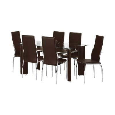 All Home Portland Dining Table and 6 Chairs