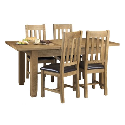 All Home Oliver Extendable Dining Table and 4 Chairs