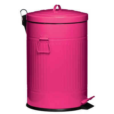 All Home 20L Pedal Bin with Bucket in Pink