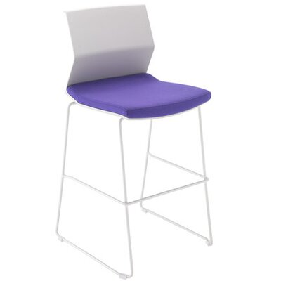 All Home Armless Stacking Chair with Cushion
