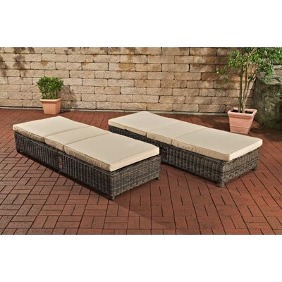 All Home Kolla Sun Lounger Set with Cushion