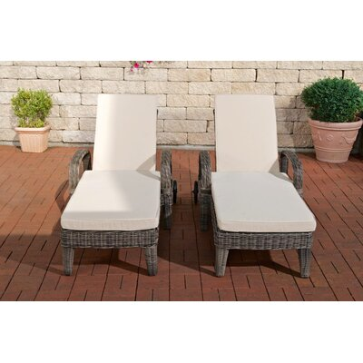 All Home Lalchandani Sun Lounger Set with Cushions