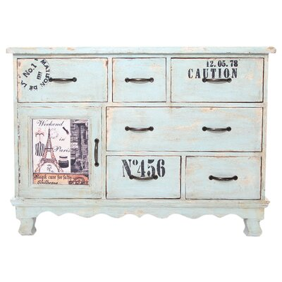 All Home Siena 1 Door 6 Drawer Chest