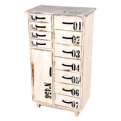 All Home Siena 1 Door 11 Drawer Combi Cabinet