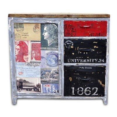 All Home 1 Door 3 Drawer Combi Cabinet