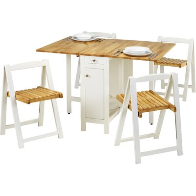 All Home Adelphi Dining Table and 4 Chairs