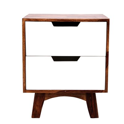 All Home 2 Drawer Bedside Table