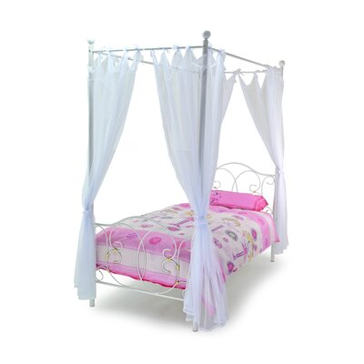All Home Ballet Single Canopy Bed