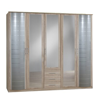 All Home Flora 5 Door Wardrobe