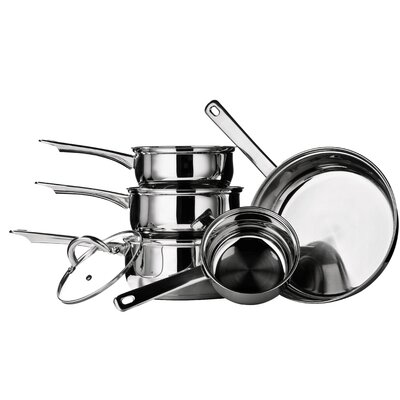 All Home 5-Piece Stainless Steel Cookware Set