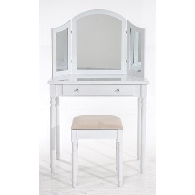 All Home Kaasalainen Vanity Table Set with Mirror