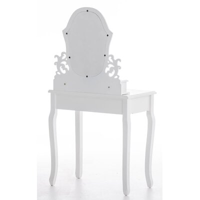 All Home Gretamills Vanity Table Set with Mirror