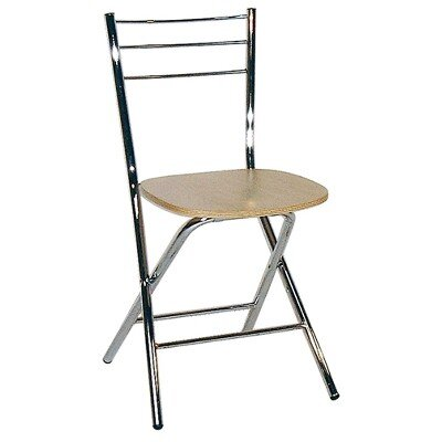 All Home Mono Folding Chair with Wood Seat