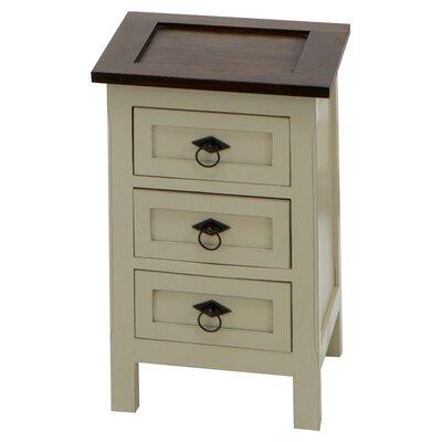 Homestead Living Cardona 3 Drawer Bedside Table