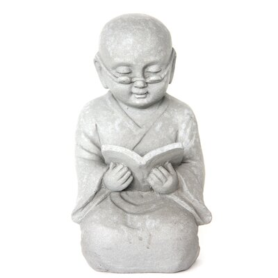 Homestead Living Child Monk Reading Statue