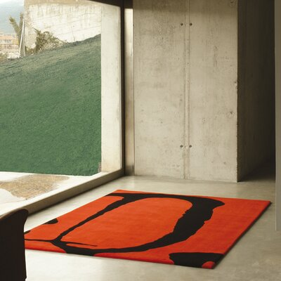 Homestead Living Hand-Tufted Red Area Rug