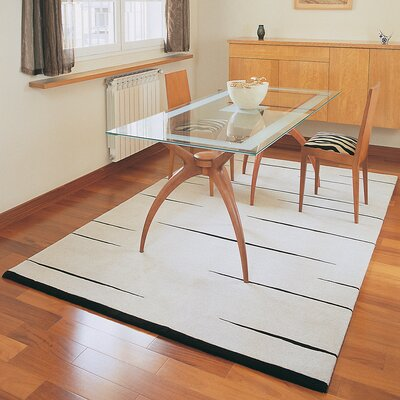 Homestead Living Hand-Tufted White Area Rug