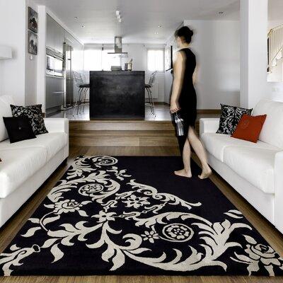 Homestead Living Hand-Tufted Black Area Rug