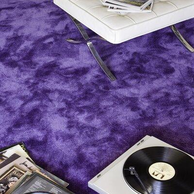Homestead Living Wool and Silk Hand-Tufted Purple Area Rug