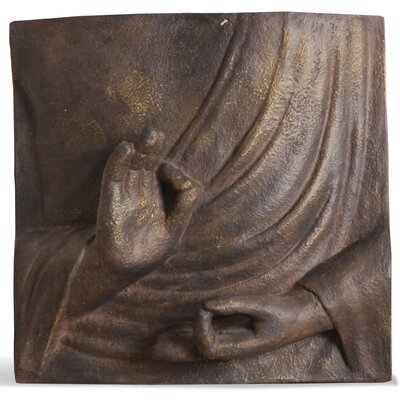 Homestead Living Vitarka Buddha Hands Graphic Art Plaque