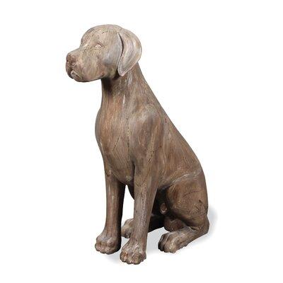 Homestead Living Wooden Labrador Statue