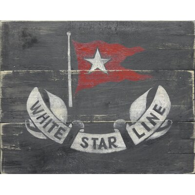 Homestead Living White Star Line on Black Original Painting Plaque