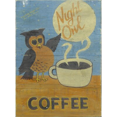 Homestead Living Night Owl Coffee Original Painting Plaque