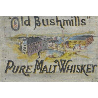 Homestead Living Old Bushmills Advert Original Painting Plaque