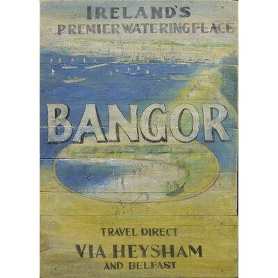 Homestead Living Bangor Watering Place Original Painting Plaque