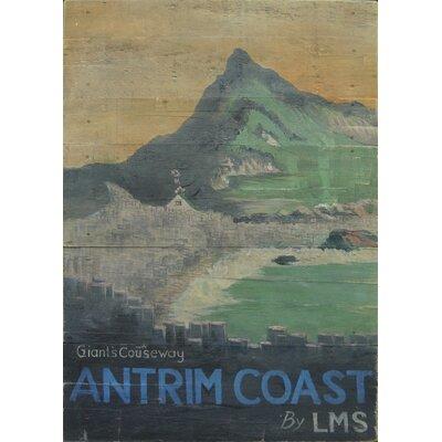 Homestead Living Antrim Coast Advert Original Painting Plaque