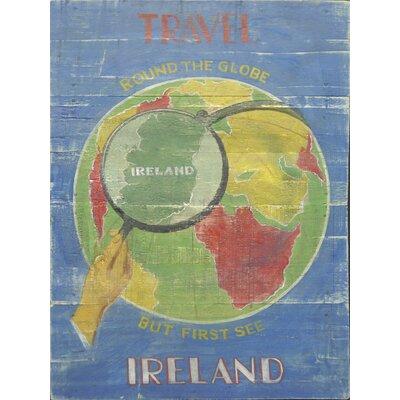 Homestead Living Travel Ireland Original Painting  Plaque