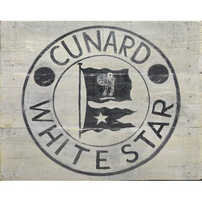 Homestead Living Cunard White Star B and W Original Painting Plaque