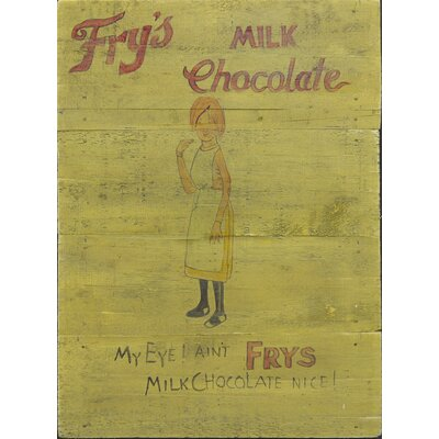 Homestead Living Fry's Milk Chocolate Original Painting Plaque