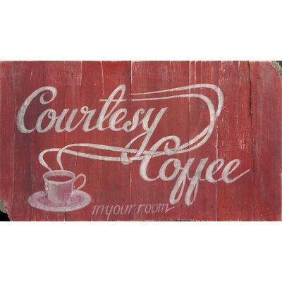 Homestead Living Courtesy Coffee Original Painting Plaque