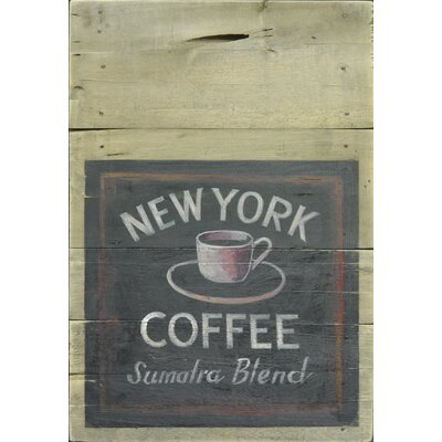 Homestead Living New York Coffee Original Painting Plaque