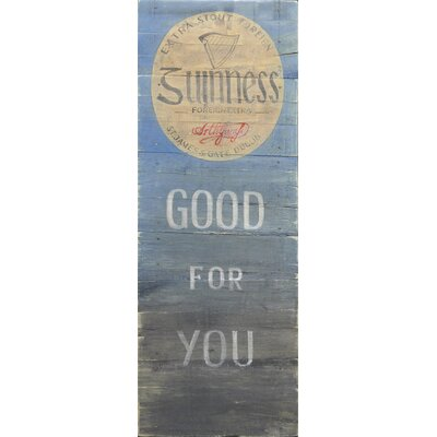 Homestead Living Giunness is Good For You Original Painting Plaque
