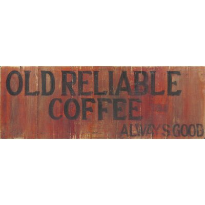 Homestead Living Old Reliable Coffee 2 Original Painting Plaque