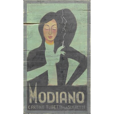 Homestead Living Modiano Cigarettes Original Painting Plaque