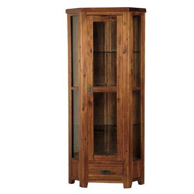 Homestead Living Solid Acacia Corner Display Cabinet