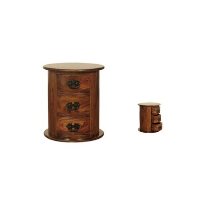 Homestead Living Aielli 3 Drawer Bedside Table