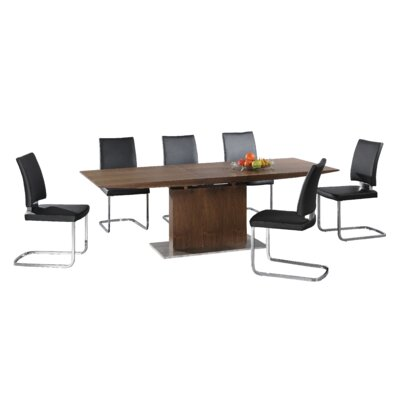 Homestead Living Elanora Extendable Dining Table and 6 Chairs