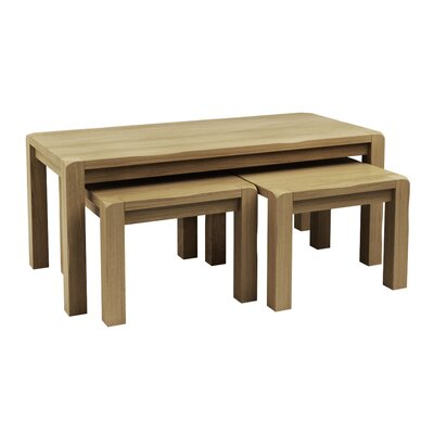 Homestead Living Lova 4 Piece Coffee Table with Nested Stools